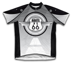 Route 66 Short Sleeve Cycling Jersey for Men and Women