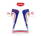 Russia  Full Zipper Bike Short Sleeve Cycling Jersey