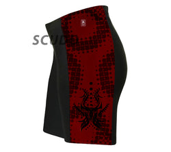 Black and Red Tribal Triathlon Shorts
