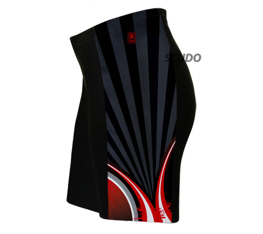 Black Red Striker Triathlon Shorts