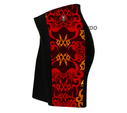 Red Black Tattoo Sheme Triathlon Shorts