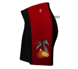 Red Fire Dragon Triathlon Shorts