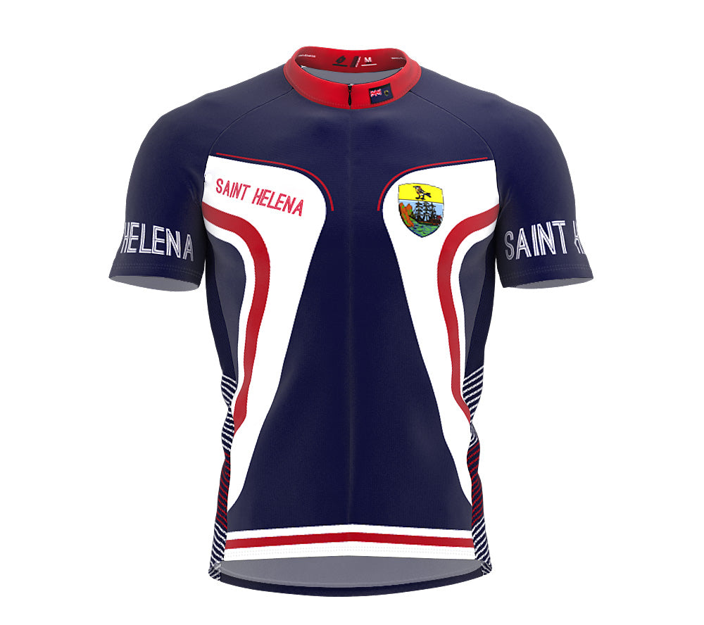 Saint Helena  Full Zipper Bike Short Sleeve Cycling Jersey