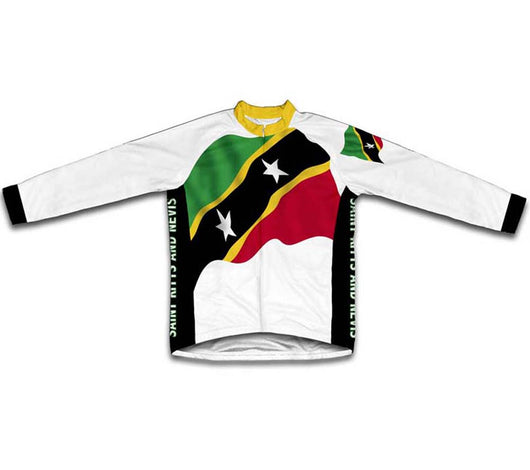 Saint Kitts And Nevis Flag Winter Thermal Cycling Jersey