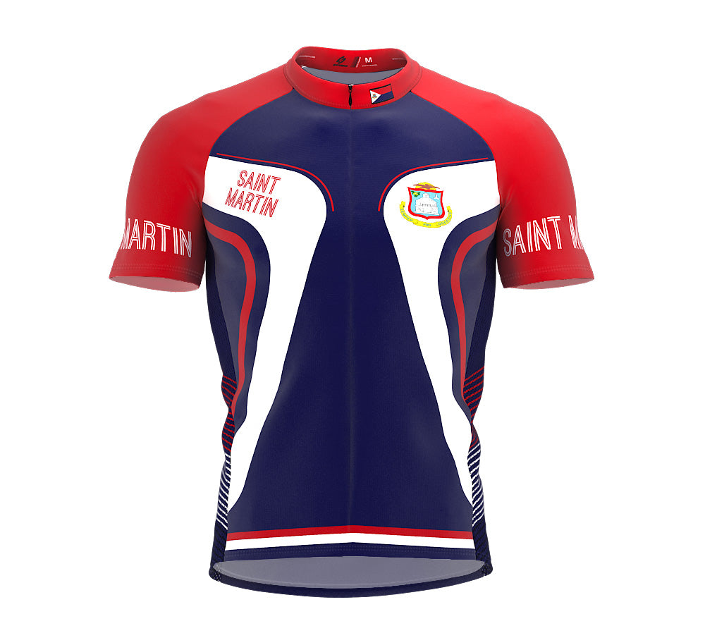 Saint Martin  Full Zipper Bike Short Sleeve Cycling Jersey