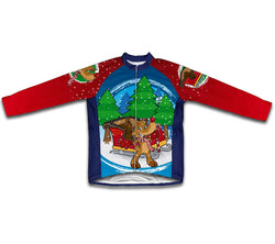 Santa Claus Rudolph Reindeer Winter Thermal Cycling Jersey