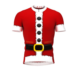 Santa Suit Short Sleeve Cycling Jersey for Men and Women