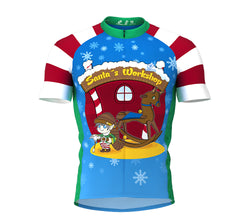 Santas Workshop Short Sleeve Cycling Jersey for Men and Women
