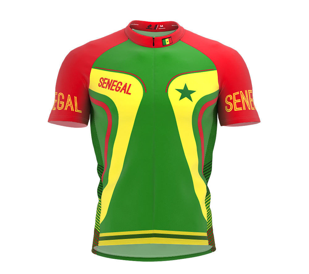 Senegal  Full Zipper Bike Short Sleeve Cycling Jersey