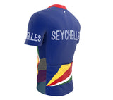 Seychelles  Full Zipper Bike Short Sleeve Cycling Jersey