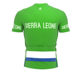 Sierra Leone  Full Zipper Bike Short Sleeve Cycling Jersey