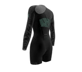 Simple Black Scudopro Cycling Skin Suit Long Sleeve for Woman