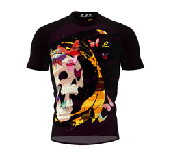 Skull Butterfly Cycling Jersey Short Sleeve for Men and Women