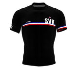 Slovakia Black CODE Short Sleeve Cycling PRO Jersey for Men and WomenSlovakia Black CODE Short Sleeve Cycling PRO Jersey for Men and Women