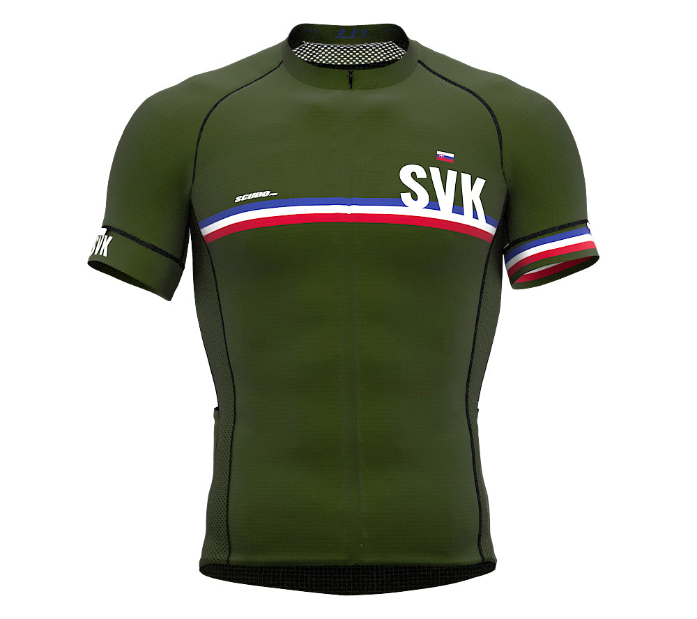 Slovakia Green CODE Short Sleeve Cycling PRO Jersey for Men and WomenSlovakia Green CODE Short Sleeve Cycling PRO Jersey for Men and Women