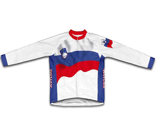 Slovenia Flag Winter Thermal Cycling Jersey