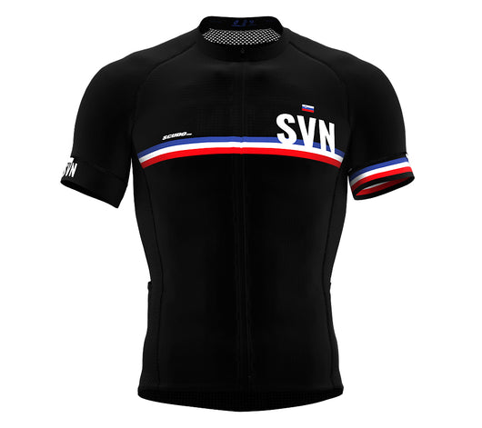 Slovenia Black CODE Short Sleeve Cycling PRO Jersey for Men and WomenSlovenia Black CODE Short Sleeve Cycling PRO Jersey for Men and Women