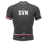 Slovenia Gray CODE Short Sleeve Cycling PRO Jersey for Men and Women