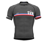 Slovenia Gray CODE Short Sleeve Cycling PRO Jersey for Men and WomenSlovenia Gray CODE Short Sleeve Cycling PRO Jersey for Men and Women