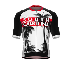 ScudoPro Pro-Elite Short Sleeve Cycling Jersey South Carolina USA State Icon landmark symbol identity  | Men and Women