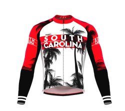 ScudoPro Pro Thermal Long Sleeve Cycling Jersey South Carolina USA state Icon landmark identity  | Men and Women