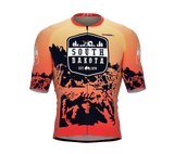 ScudoPro Pro-Elite Short Sleeve Cycling Jersey South Dakota USA State Icon landmark symbol identity  | Men and Women