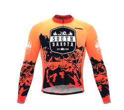 ScudoPro Pro Thermal Long Sleeve Cycling Jersey South Dakota USA state Icon landmark identity  | Men and Women