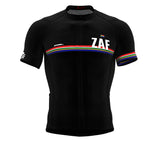South Africa Black CODE Short Sleeve Cycling PRO Jersey for Men and WomenSouth Africa Black CODE Short Sleeve Cycling PRO Jersey for Men and Women