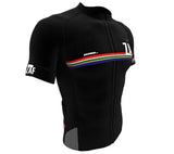 South Africa Black CODE Short Sleeve Cycling PRO Jersey for Men and Women