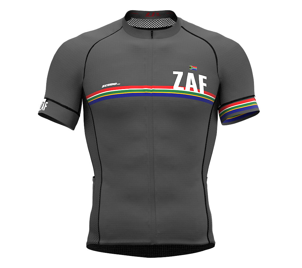 South Africa Gray CODE Short Sleeve Cycling PRO Jersey for Men and WomenSouth Africa Gray CODE Short Sleeve Cycling PRO Jersey for Men and Women