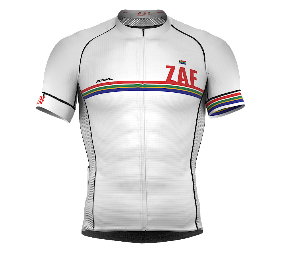 South Africa White CODE Short Sleeve Cycling PRO Jersey for Men and WomenSouth Africa White CODE Short Sleeve Cycling PRO Jersey for Men and Women