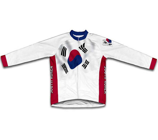 South Korea Flag Winter Thermal Cycling Jersey