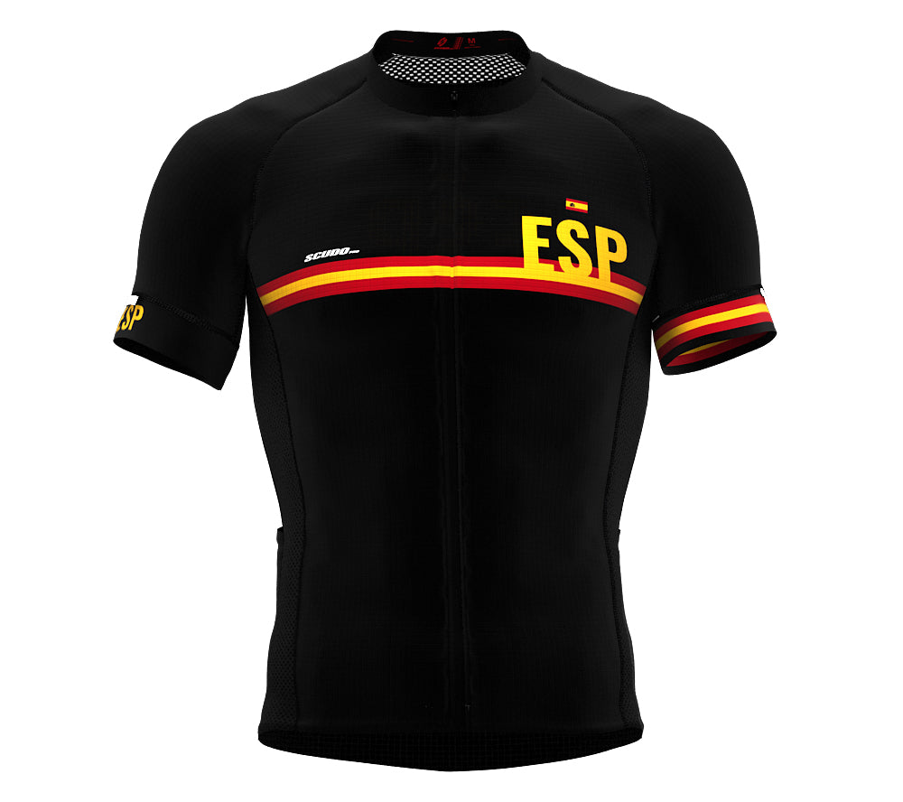 Spain Black CODE Short Sleeve Cycling PRO Jersey for Men and WomenSpain Black CODE Short Sleeve Cycling PRO Jersey for Men and Women
