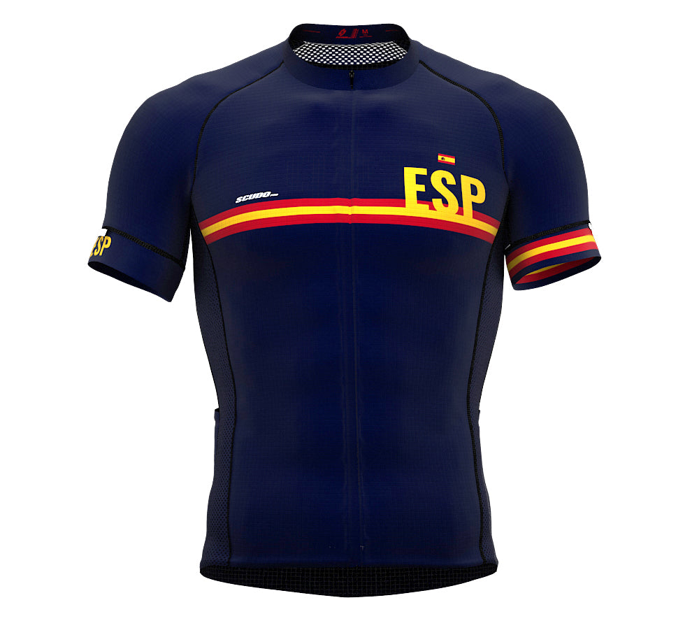 Spain Blue CODE Short Sleeve Cycling PRO Jersey for Men and WomenSpain Blue CODE Short Sleeve Cycling PRO Jersey for Men and Women