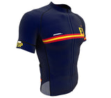 Spain Blue CODE Short Sleeve Cycling PRO Jersey for Men and Women