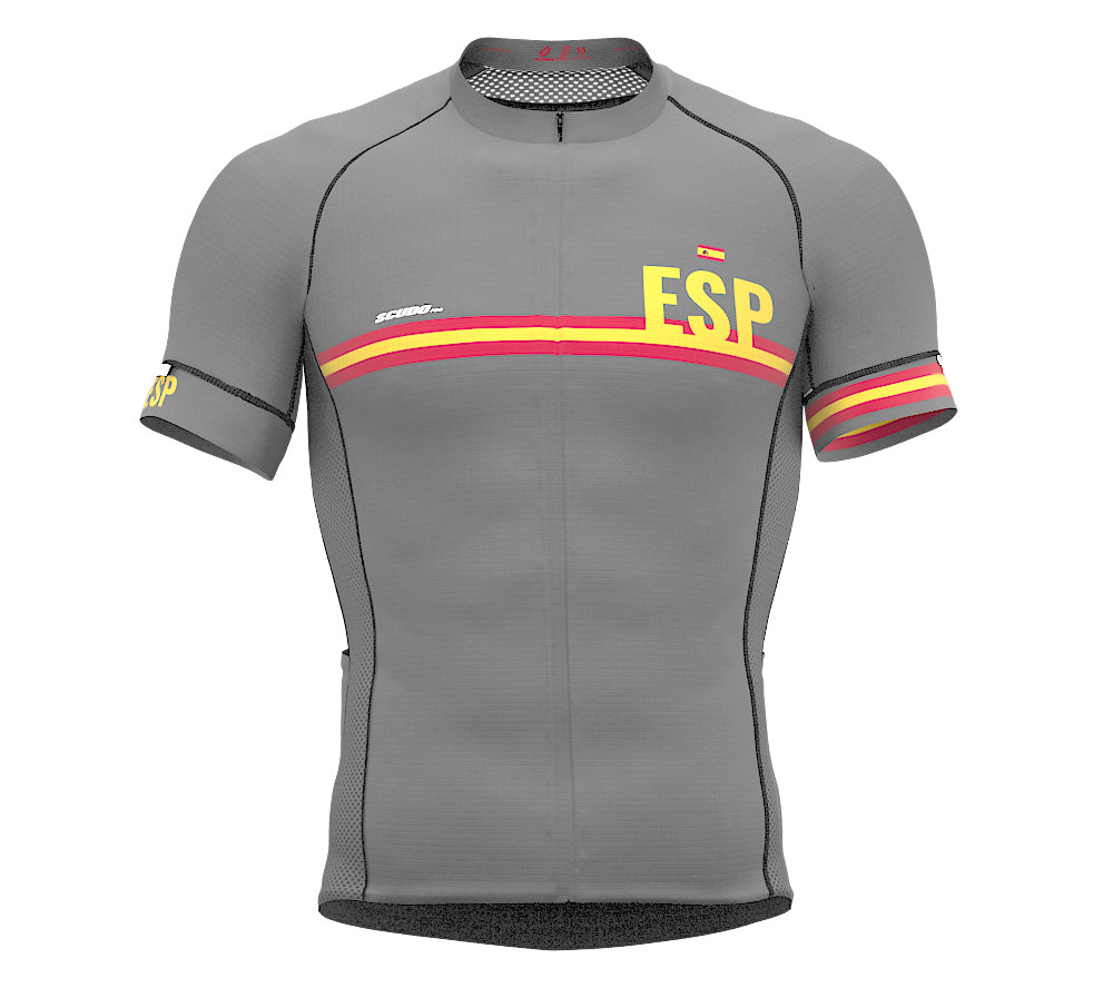 Spain Gray CODE Short Sleeve Cycling PRO Jersey for Men and WomenSpain Gray CODE Short Sleeve Cycling PRO Jersey for Men and Women
