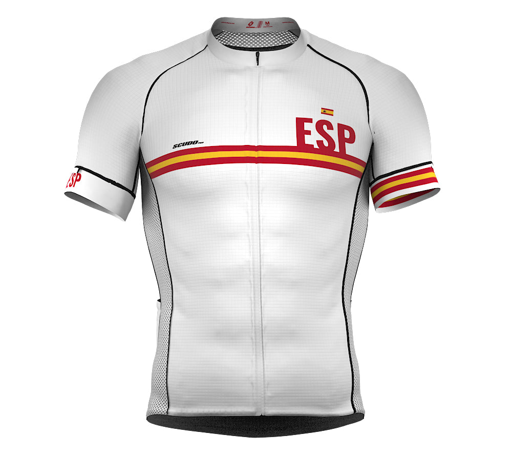 Spain White CODE Short Sleeve Cycling PRO Jersey for Men and WomenSpain White CODE Short Sleeve Cycling PRO Jersey for Men and Women