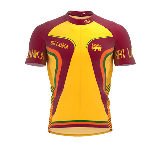 Sri Lanka  Full Zipper Bike Short Sleeve Cycling Jersey
