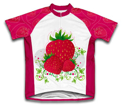 Strawberry Short Sleeve Cycling Jersey for Men and Women