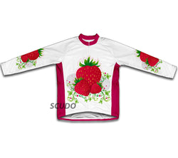 Strawberry Winter Thermal Cycling Jersey
