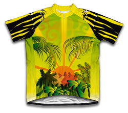 Sunlight Forest Short Sleeve Cycling Jersey for Men and Women