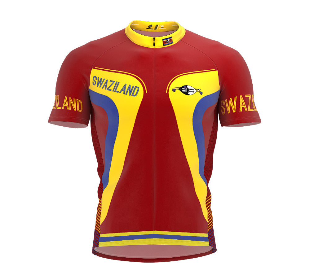 Swaziland  Full Zipper Bike Short Sleeve Cycling Jersey