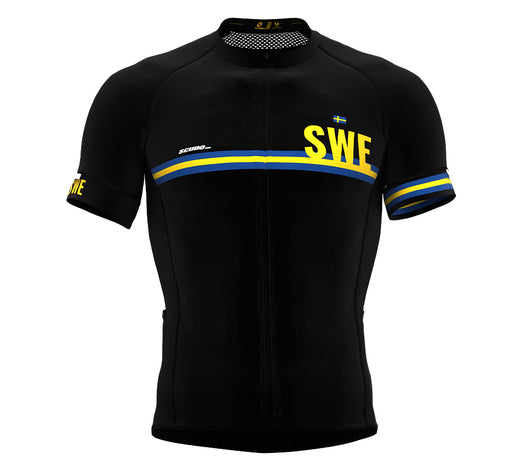 Sweden Black CODE Short Sleeve Cycling PRO Jersey for Men and WomenSweden Black CODE Short Sleeve Cycling PRO Jersey for Men and Women