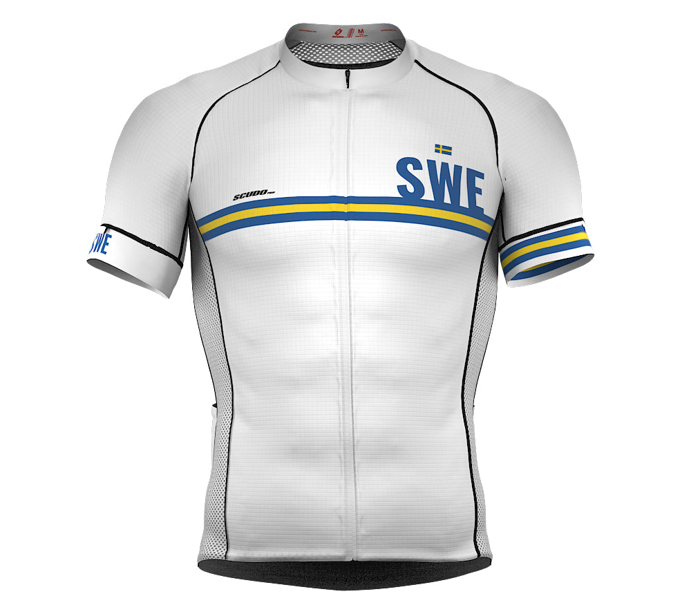 Sweden White CODE Short Sleeve Cycling PRO Jersey for Men and WomenSweden White CODE Short Sleeve Cycling PRO Jersey for Men and Women