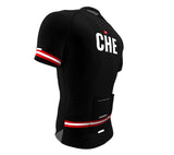 Switzerland Black CODE Short Sleeve Cycling PRO Jersey for Men and Women