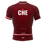 Switzerland Vine CODE Short Sleeve Cycling PRO Jersey for Men and Women