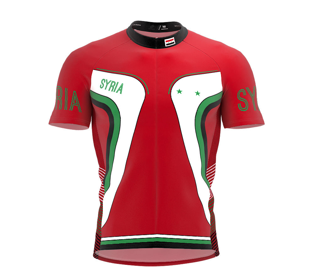 Syria  Full Zipper Bike Short Sleeve Cycling Jersey