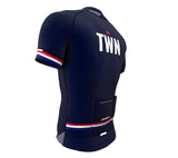Taiwan Blue CODE Short Sleeve Cycling PRO Jersey for Men and Women