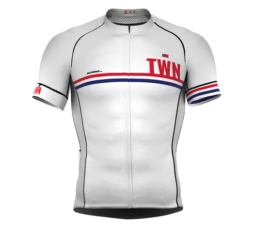 Taiwan White CODE Short Sleeve Cycling PRO Jersey for Men and WomenTaiwan White CODE Short Sleeve Cycling PRO Jersey for Men and Women