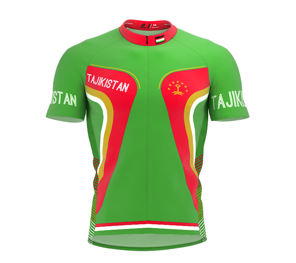 Tajikistan  Full Zipper Bike Short Sleeve Cycling Jersey